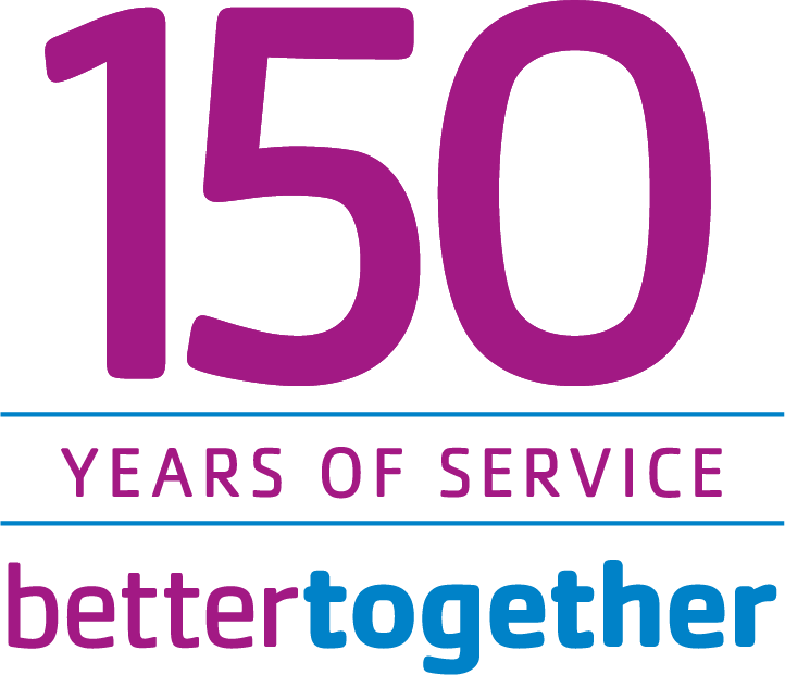 YMCA logo celebrating 150 of service