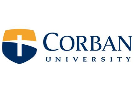 Logo and text for Corban University