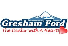 Logo and text for Gresham Ford