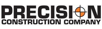 Logo and text for Precision Construction Company