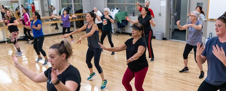 Dance fitness group exercise class