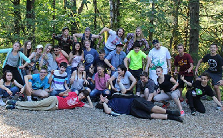 Teens at YMCA Camp Collins